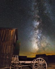 Bodie Wagon with Milky Way