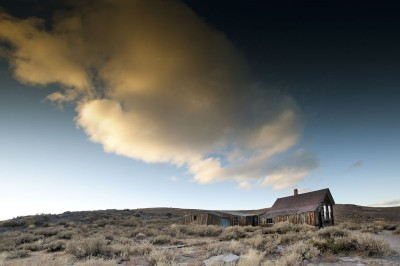 bodie cabin and clouds