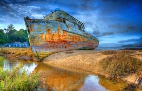 Derelict Boat, Point Reyes