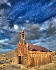 Bodie Firehouse at Sunset