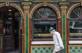 Pedestrian Near an Irish Pub, Dublin