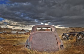 Old Car and Approaching Storm, Bodie
